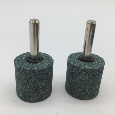 Mounted Points 25*25*6MM Brown corundum (A) Green color,  Grit:46#, Cylinder
